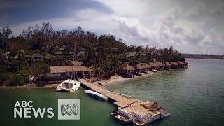 Survol silencieux du Vanuatu après le passage du cyclone Pam