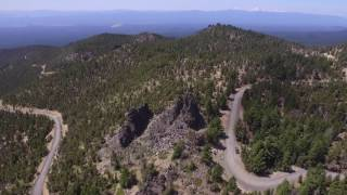Newberry Volcano in Oregon by DJI Phantom 3 StandardThe Newberry Volcano has erupted many times and is listed by the USGS as an active volcano with a high chance of eruption.