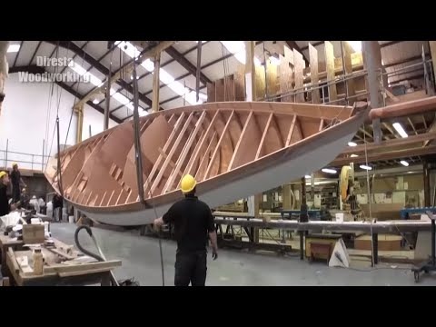 Extreme Fast Wooden Boat Build Skills - Amazing TimeLapse Boat Building Process