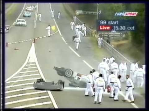 Accidente de Mark en LeMans 1999