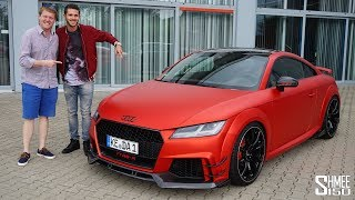 The Abt TT RS-R is a little beast and I'm joined by Daniel Abt to take a look around his car and go for a test drive! It's built up from the base Audi TT RS having been dialed up to 500PS and 570Nm (from the standard 400PS and 400Nm), with the design transformed via new carbon fibre components throughout and the interior swathed with Alcantara.To get started we take a walkaround of the exterior and interior outside Abt's HQ in Kempten, Germany, before it's then time to jump on board with Daniel taking the wheel. After experiencing the TT RS-R from the passenger seat then we swap around and I get to have a little fun too before we head back.You can also follow Daniel Abt's pages too where he pots more videos and content, including following his Formula E seasons:https://youtube.com/AbtDanielhttp://instagram.com/daniel_abtThanks for watching, TimSubscribe: http://bit.ly/Shmee150YTWebsite: http://www.shmee150.comFacebook: http://www.fb.com/shmee150Instagram: http://www.instagram.com/shmee150