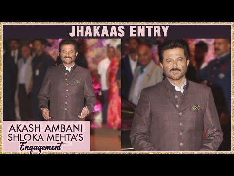 Anil Kapoor GRAND ENTRY At Akash Ambani And Shloka