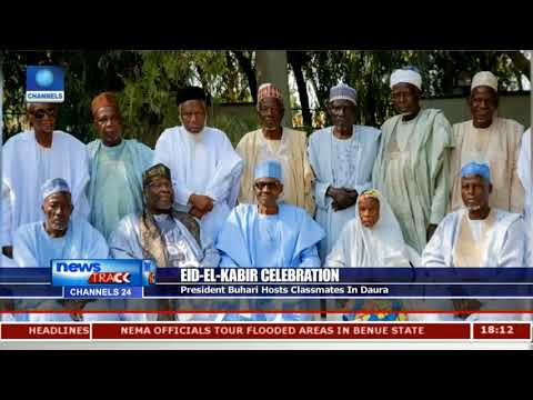 President Buhari Hosts Classmates In Daura