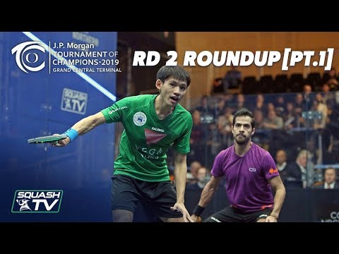 Squash: Tournament of Champions 2019 - Men's Rd 2 Roundup [Pt.1]