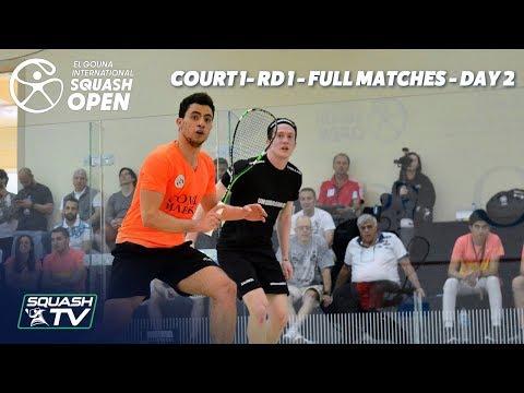 Squash: El Gouna International - Court 1 - Rd 1 Full Matches - Day 2