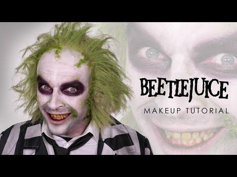 Beetlejuice Halloween Makeup Tutorial