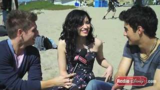 "Demi Lovato & Joe Jonas on the Set of ""Make A Wave"" - Celebrity Take with Jake - Part 2"