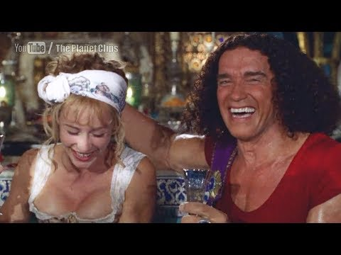 Arnold Schwarzenegger flirting with Cécile de France | Around the World in 80 Days (2004 film)