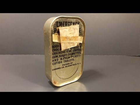 Perfectly Stored 1944 WW2 AAF Emergency Parachute Ration opened up