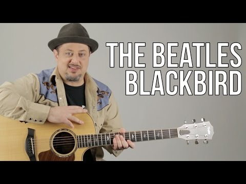 "How To Play ""Blackbird"" On Acoustic Guitar By The Beatles - Guitar Lesson - Paul McCartney"