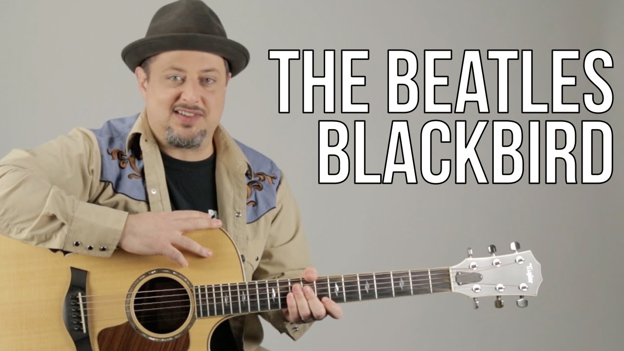 "How To Play ""Blackbird"" on Acoustic Guitar by The Beatles – Guitar Lesson – Paul McCartney"