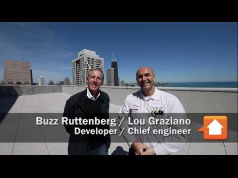 On the roof with Buzz and Lou at 600 Lake Shore Drive