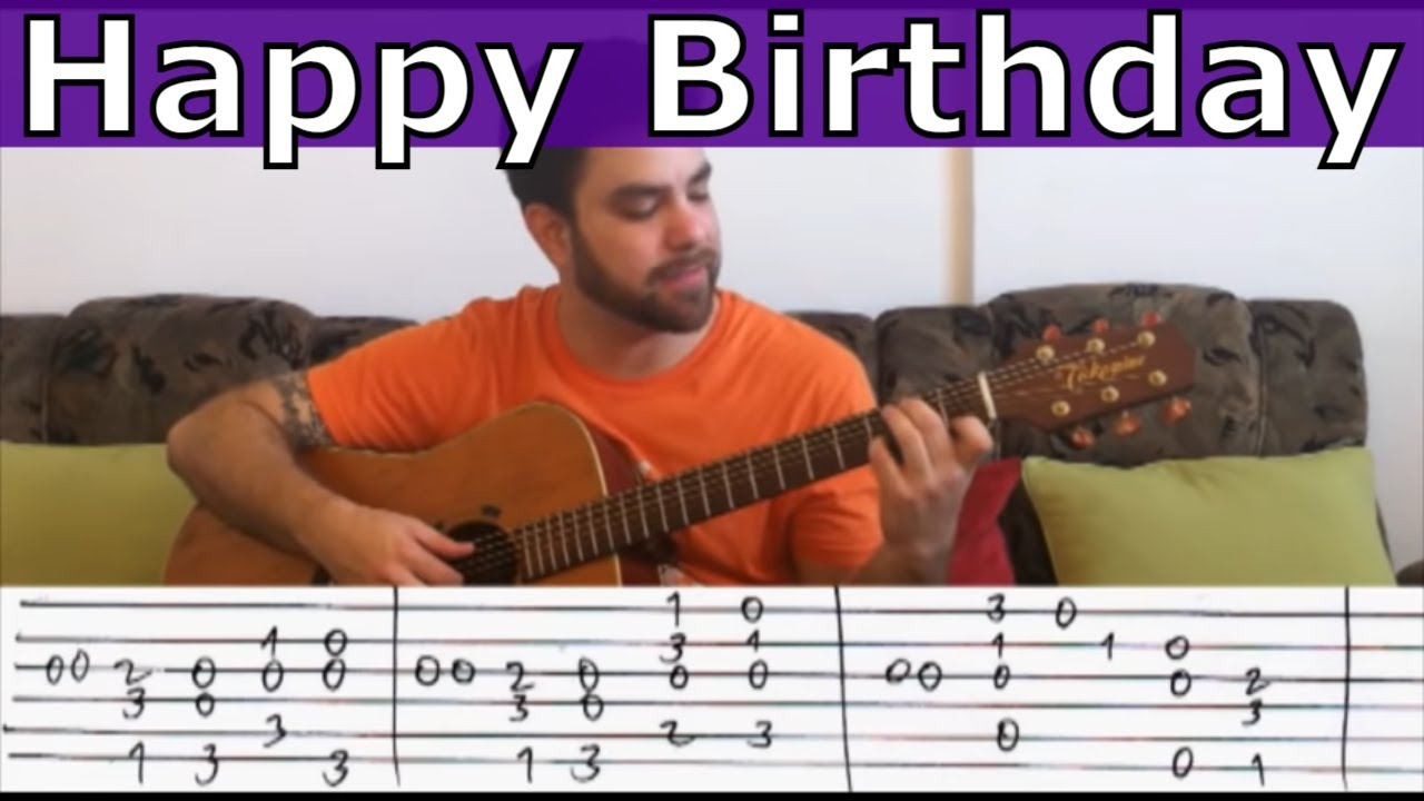 """Fingerstyle Tutorial: Happy Birthday (""""Extreme"""" Version) – Guitar Lesson w/ TAB"""