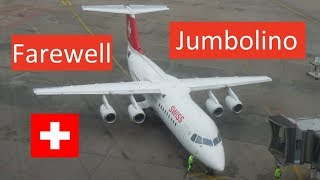 """Watch my last flight on board the classic """"Jumbolino"""" - the Avro RJ100 from Swiss. Since August 14th it became a little part of..."""