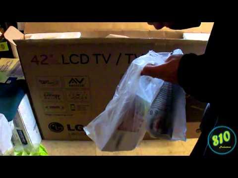 LG 42LK450 LCD HDTV Unboxing