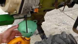 Замена масла двигателя дизельного мотоблока
