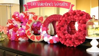In the spirit of Valentine's day I wanted to share some fun wreaths that I made :) This video includes tutorials for paper rose, deco mesh, burlap & yarn wreaths. Items needed: 1. Paper rose wreath: red cardstock, styrofoam wreath base (12 in), red ribbon, glue gun. 2. Burlap rose wreath: styrofoam wreath base (12 in), burlap (prefer high density), twine, red felt, glue gun.3. Deco mesh wreath: wire wreath base (12 in), deco mesh (pink, red, white), embellishments optional.4. Yarn wreath: styrofoam wreath base (12 in), yarn, felt (multiple colors), glue gun. Follow me on Instagram: http://instagram.com/simply_preet/Thanks for watching!!  xox