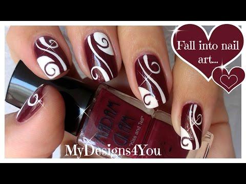 Дизайн Свадебный Дизайн ногтей с бордовым цветом