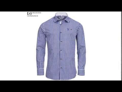 Finest-Trachten.de: Trachtenhemd Body Fit in Blau von Gweih und Silk