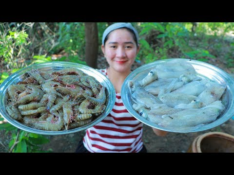 Yummy Shrimp Cooking Squid Salad - Salad Recipe - Cooking With Sros