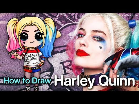 How to Draw Suicide Squad Harley Quinn Chibi