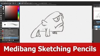 This is a short tip on downloading Medibang paint pro pencils and brushes for sketching like you do manually with a graphite pen. Fish inspired by David Revo...