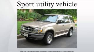 3. Sport utility vehicle