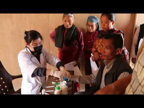 HIV test in remote area of Nepal