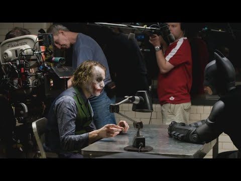 The Dark Knight - Heath Ledger Joker Behind The Scenes (Rare)