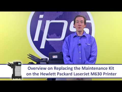 HP M630 - Replacing the Maintenance Kit