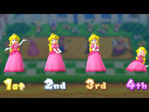 Mario Party 10 Minigame Battle - Peach vs Mario vs Luigi vs Wario (Master CPU)