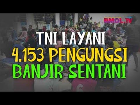 TNI Layani 4.153 Pengungsi Banjir Sentani