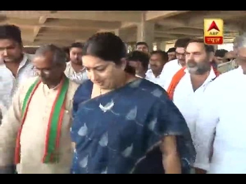 Video Smriti Irani on two day to Amethi, inspects under construction hospital download in MP3, 3GP, MP4, WEBM, AVI, FLV January 2017