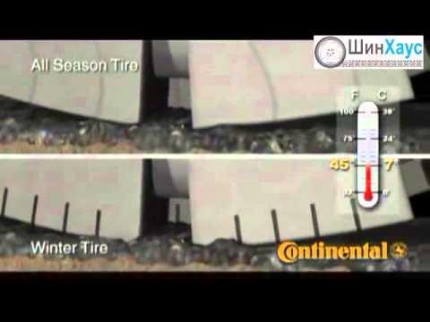 Видео №6 - Сравнение всесезонной резины с зимней