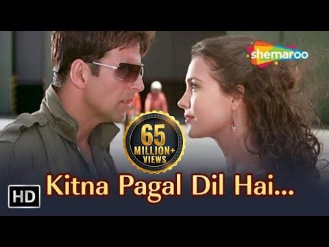 Video Kitna Pagal Dil Hai | Andaaz Songs | Akshay Kumar | Lara Dutta | Kumar Sanu | Love Song | Filmigaane download in MP3, 3GP, MP4, WEBM, AVI, FLV January 2017
