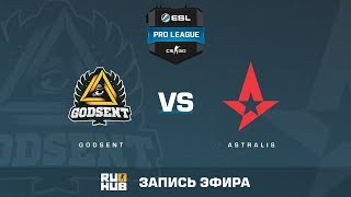 GODSENT vs Astralis - ESL Pro League S6 EU - de_mirage [yXo, Enkanis]