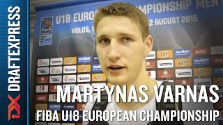 Martynas Varnas 2015 FIBA U18 European Championship Interview