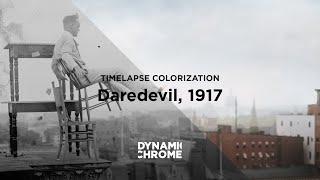 Timelapse restoration & colorization, Jammie Rogers, Daredevil 1917