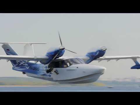 Испытания самолета-амфибии Л-44м сновой лодкой