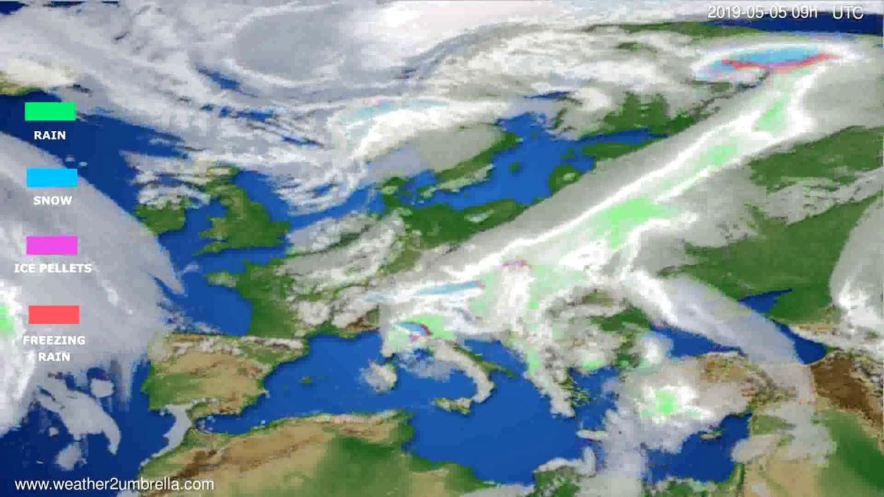 Precipitation forecast Europe // modelrun: 12h UTC 2019-05-03