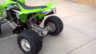 8. 2013 KAWASAKI KFX450R FI IN TEAM GREEN RACE COLORS @ ALCOA GOOD TIMES
