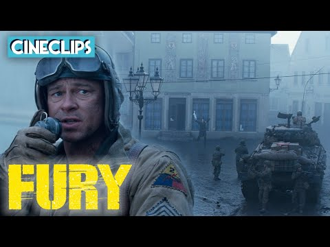 Seizing Control Of A German Town   Fury   CineClips