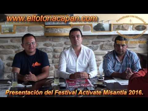Presentación del Festival Actívate Misantla 2016