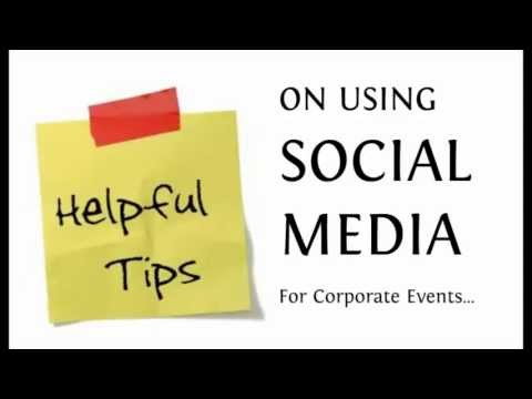 How To Use Social Media For Corporate Events