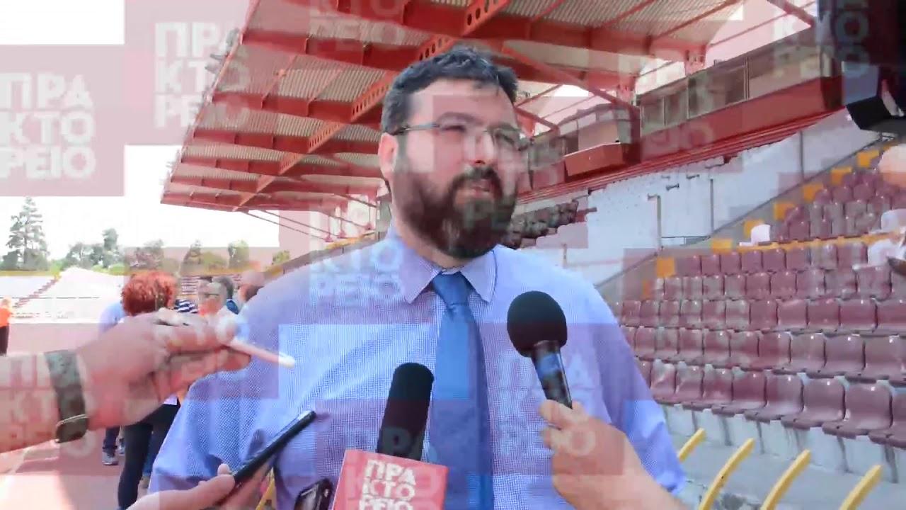 Επίσκεψη του υφυπουργού Αθλητισμού Νίκου Βασιλειάδη στη Λάρισα
