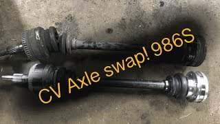 boxster S CV axle shaft replacement 987 987 6 speed