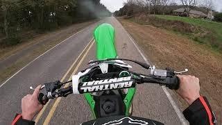 4. 2017 Kawasaki KX450F Top Speed 94 mph stock bike GPS