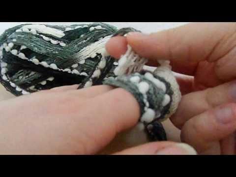 Loop Finger Strick Schal Teil 1