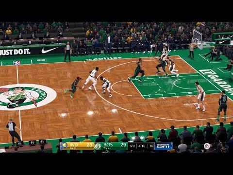 NBA LIVE 19 Playoffs Indiana Pacers vs Boston Celtics Game 1 - PS4 PRO Patch 1.23 CPU SIM - HD