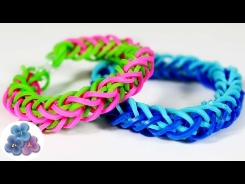 How to make Braid Bracelets Easy without Rainbow Loom video tutorial Kawaii Mathie